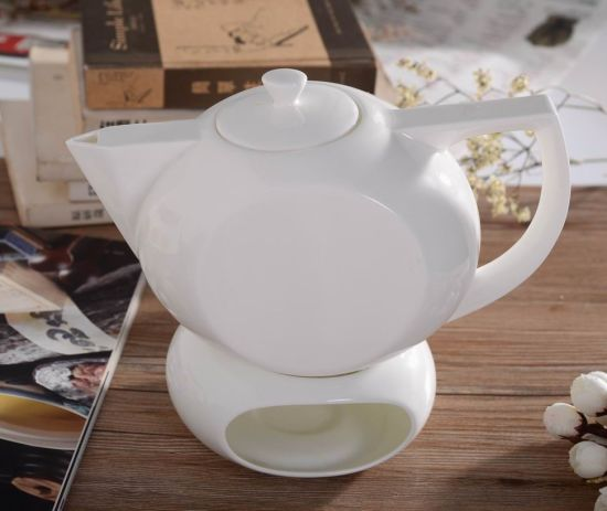Special Design Fine Bone China White, China Teapot With Warmer