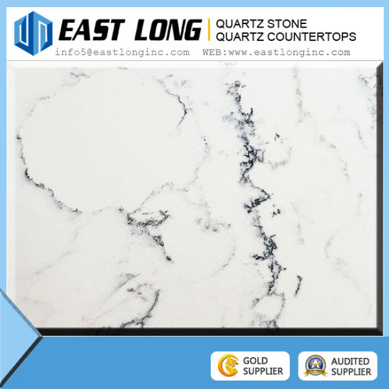 High Quality White Marble Vein Color Artificial Quartz Stone pictures & photos