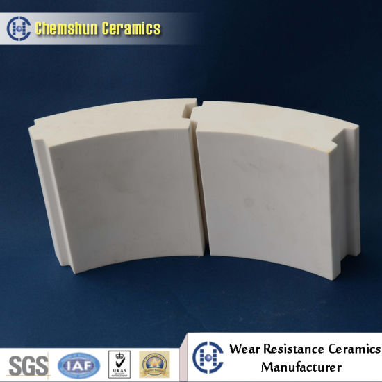 Abrasion Resistant Ceramic Curved Tile for Pipe in Steel Industry pictures & photos