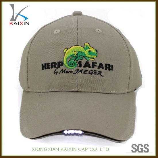 China Custom LED Light Baseball Cap Hat with Light in Brim - China ... fa69654d87c