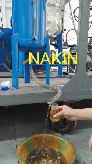 Vacuum Oil Distillation Plant for Cleaning Black Motor Oil to Yellow Base Oil pictures & photos