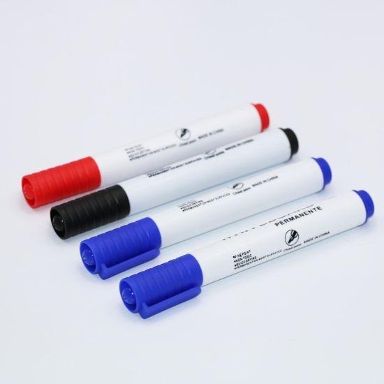 Dry Wipe Marker, Black Whiteboard Marker Pen for Office & School