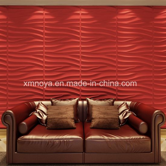 Soundproofing Sofa Background 3D PVC Wall Panel for Interior Decoration