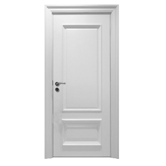 China Classic Euro White Mdf Wood Lacquer Wooden Interior Door