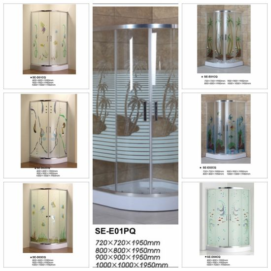 Colorful Tempered Glass Shower Enclosure pictures & photos