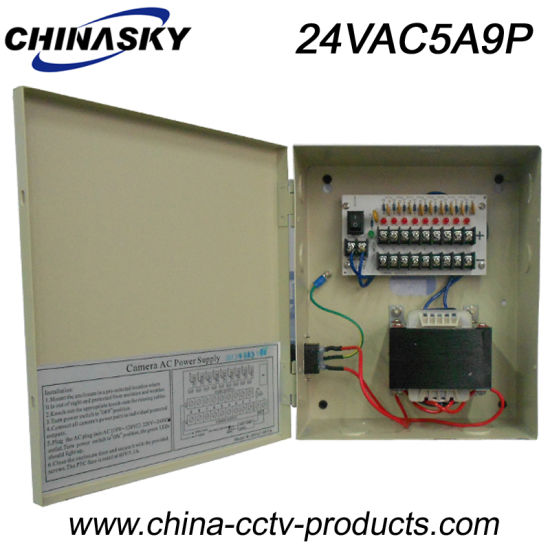 482ffcabef575 24VAC 5AMP CCTV AC Power Supply for 9 Security Cameras (24VAC5A9P) pictures    photos