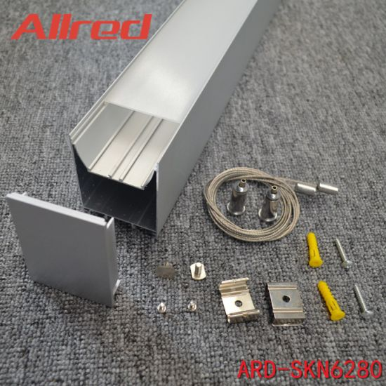 Free Connect Likable LED Indoor Lamp Body Light Profile Office Lighting Housing in 600mm 20000mm