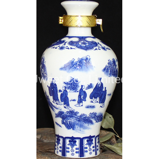 Oriental Classical Ceramic Bottle for Tequila
