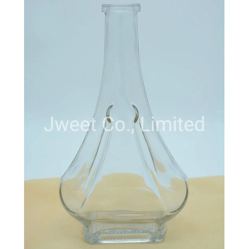 Highly White Clear 1.75L Vodka Glass Wine Bottle with Cork