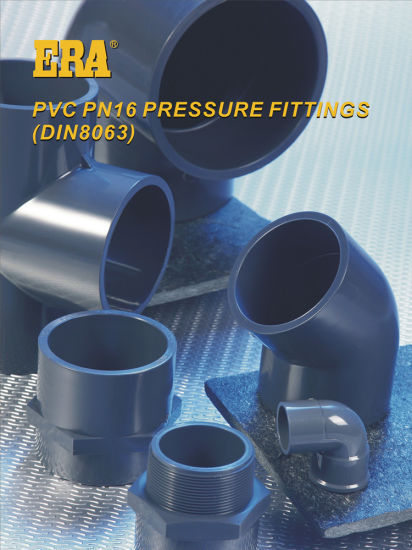 Plastic Pipe Accessories Dvgw Certificated Pn16 UPVC Pressure Fitting with DIN 8063