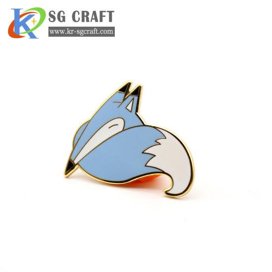 High Quality Cheap Cute Lapel Pin Badge Hard Enamel Fox Pin Manufacture Custom Logo Pin Badge