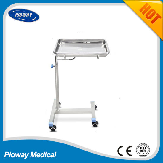 Hospital Height Is Adjustable Mayo Tray Trolley (PW-709)