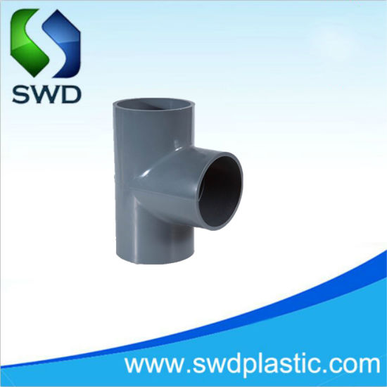 PVC Plastic Pipe Tee with High Pressure Fitting Pn10