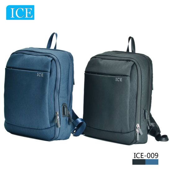 Guangzhou Factory 2021 Fashion Travel Laptop Backpacks with USB Cable