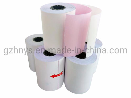60 rolls Non-thermal 2ply White and Pink Till Roll 76mm x 70mm