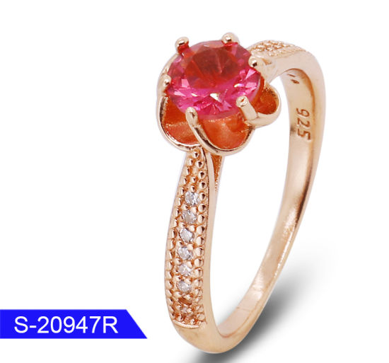 Wholesale New Design Fashion Jewelry 925 Sterling Silver Cubic Zirconia Ring for Wedding