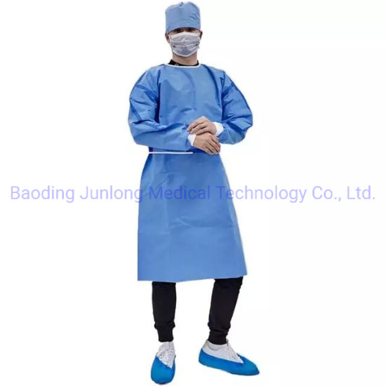 High Quality New Type High Standard Disposable SMS Isolation Gown En13795 Surgical Gown Breathable CE FDA Approved Hot Selling