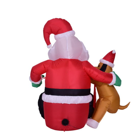 Inflatable Light-up Santa Claus Christmas Decoration for Garden Display with Air Blower and Light pictures & photos
