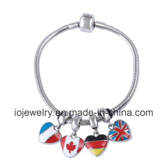 Travelling Jewelry DIY Different Flag Charms Bracelet