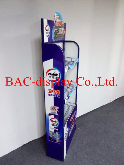 3 Tier Metal Shelf Display Stand for Cleaning Products Promotion pictures & photos