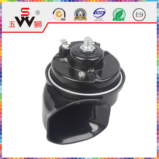 Wushi Black Disk Electric Horn Auto Electric Horn for Motor Parts