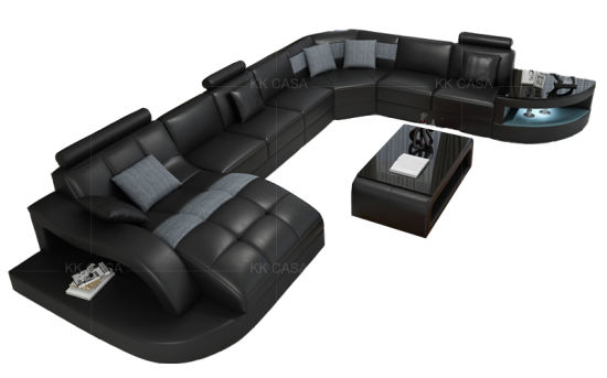 Modern Indoor Grey Fabric Sofa Set Designs Living Room Furniture L Shaped  Sectional Corner Couch Combination Sofas