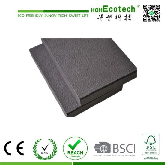 Good Price and Small Groove Solid WPC Decking (150S25-F) pictures & photos