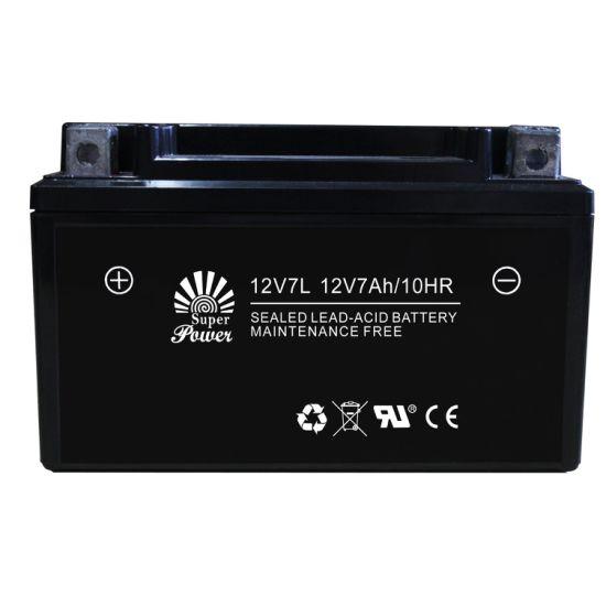 Starting Motorcycle Battery 12V 7ah VRLA Serial (12V7L) with Capacity 7ah and Voltage 12V