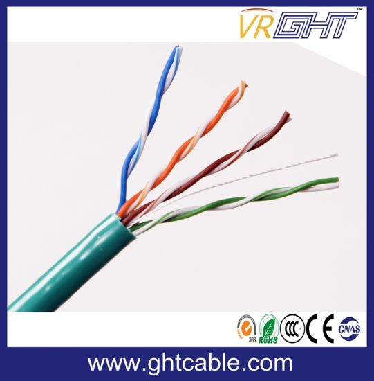 4pairs Network Cable UTP Cat5e with Ce RoHS pictures & photos