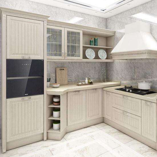 Classic European Style Modular Solid Cherry Wood Kitchen ...