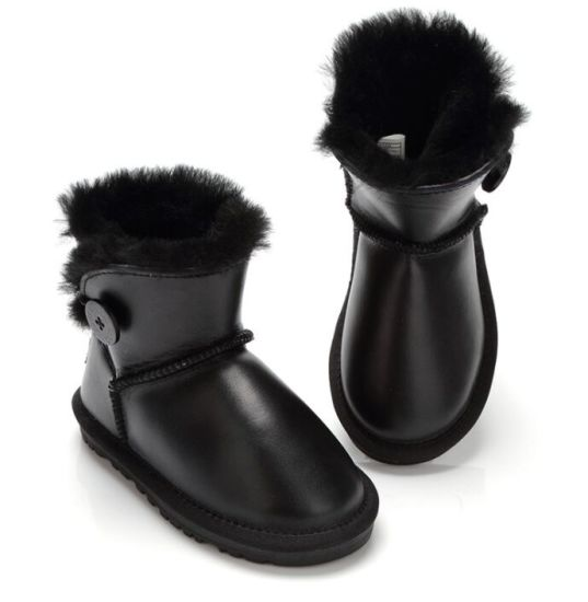 86519a80aded China Cheap Warm Real Cow Fur Kids Snow Boots - China Snow Boot ...
