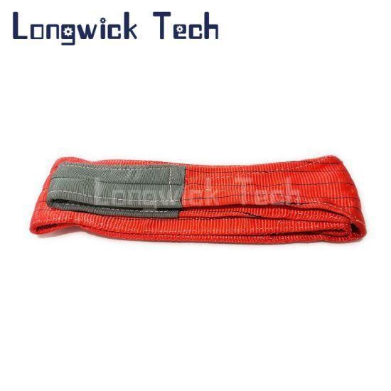 Cargo Lashing Polyester Double Flat Hoist Strap Webbing Lifting Sling