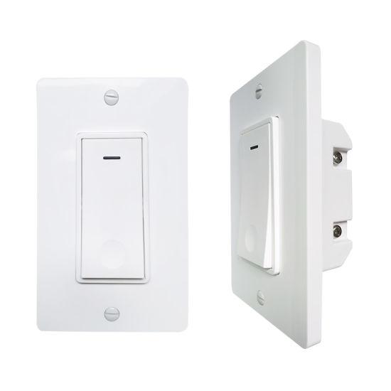 Smartphone APP Control Wall Light Switch Alexa Smart Electrical Home 10A Smart Switch WiFi Light Push Button Switch