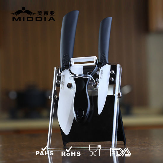 4PCS Kitchenware for Ceramic Knife Block Set with Peeler pictures & photos