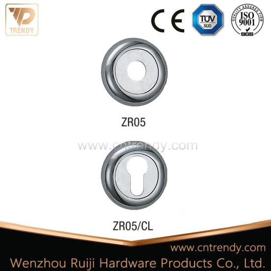 Round Rosette/Zinc Alloy Escutcheon with Cylinder Key Hole (ZR05/CL) pictures & photos