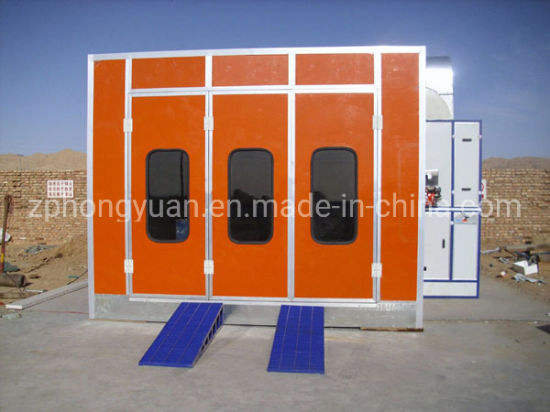 Hongyuan Brand Used Car Paint Spray Booth for Sale and for Painting and Baking Cars