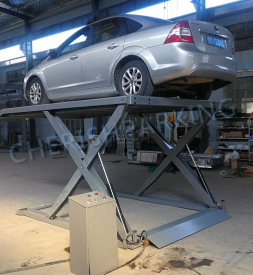 Good Quality & Low Price Two Hydraulic Scissor Vehicle Parking Lift