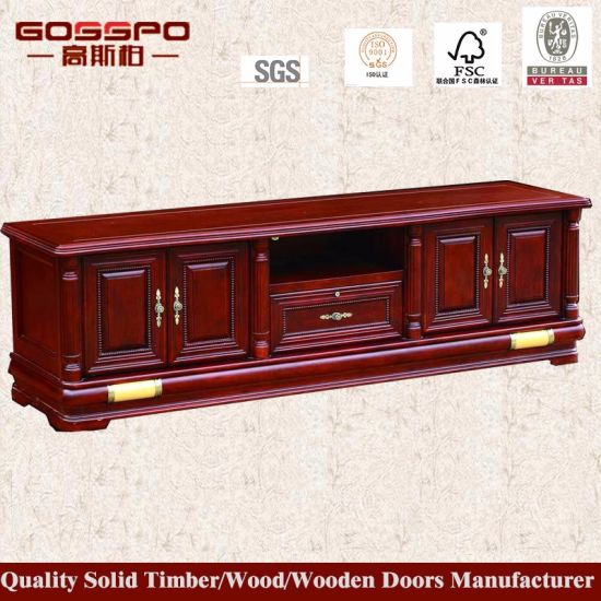 China Latest Design New Model Wooden Tv Stand Tv Cabinet Gsp13