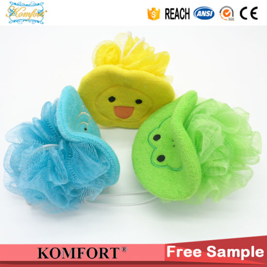 Cute Kids Toy Animal Duck Baby Bath Sponge Shower Ball pictures & photos