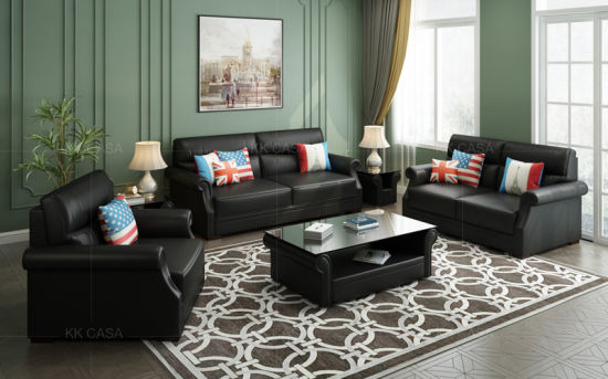 China Modular Living Room Leisure Leather Sleeper Sofa Set ...