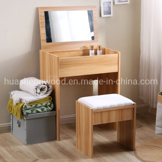 E1 Moren Simple MFC Dresser with Mirror for Small House