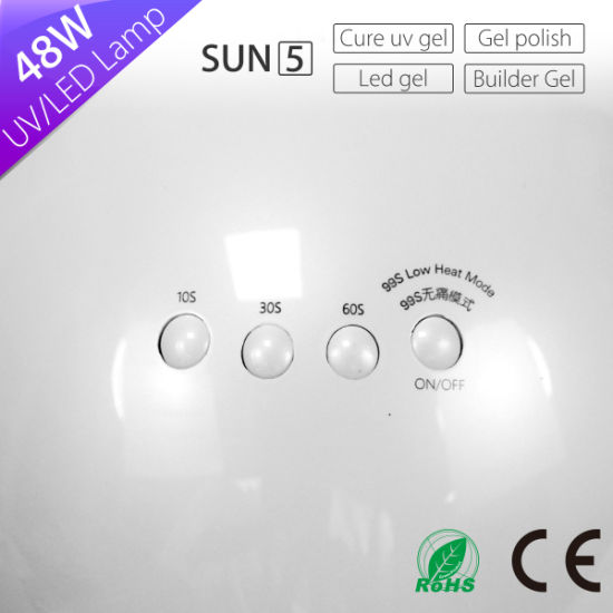 Superb 3 Timer Manicure Machine Sun5 Sun White Light UV LED Nail Lamp Dryer For  Curing All Gels