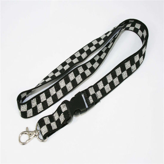 High Quality Cheap Custom Woven Lanyard Elastic Leather Velcro Tag pictures & photos