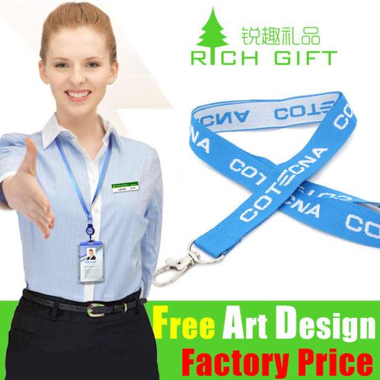 Custom Attractive Adjustable Russia Jacquard Accessories Bracelet Polyester Badges Neck Lanyard