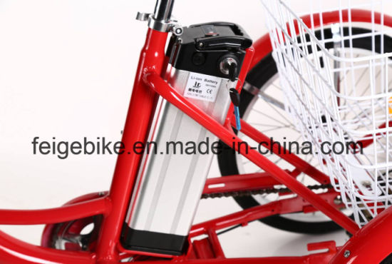 "Pedal Assist Bicycle 20"" Electric Tricycle for Shopping (FP-ETRK1808) pictures & photos"