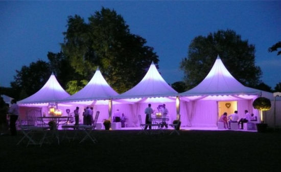 China Upal 6X6m White PVC Marquee Pagoda Tents for Sale pictures & photos
