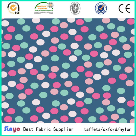 100% Polyester PU PVC Coated Printed Textile Fabric for Trolley Case