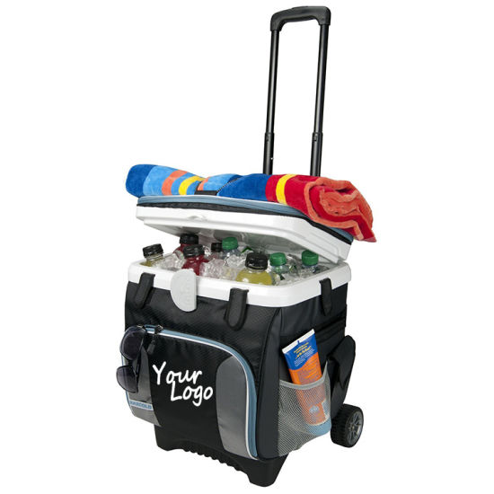 China Foldable Strong Trolley Picnic Cooler Bag With Wheels