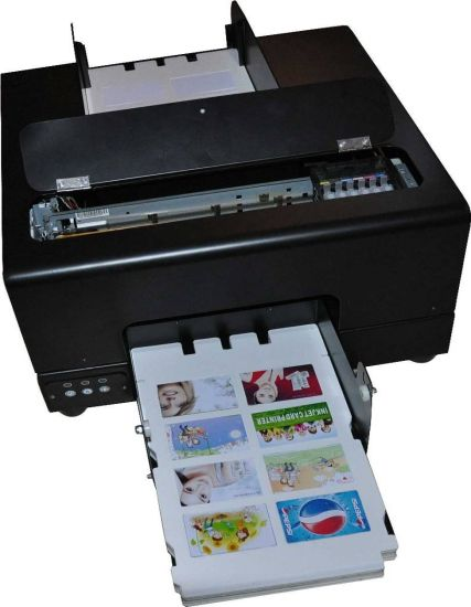 8card Inkjet Auto PVC Card Printer for 85.6*54mm or Specifical Size PVC Card