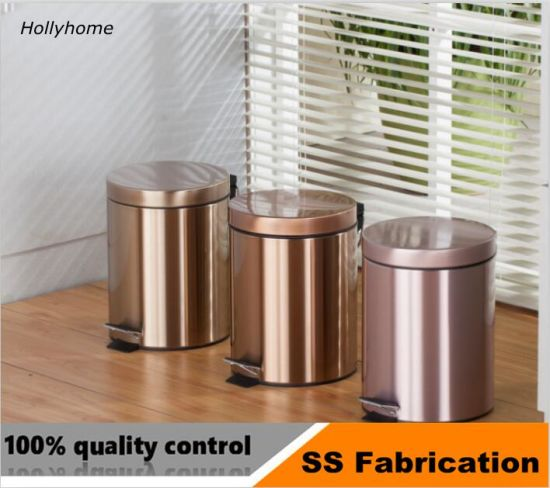 Round 3 5 8 12 20 Liter Stainless Steel Foot Step Pedal Sanitary Trash Garbage Can